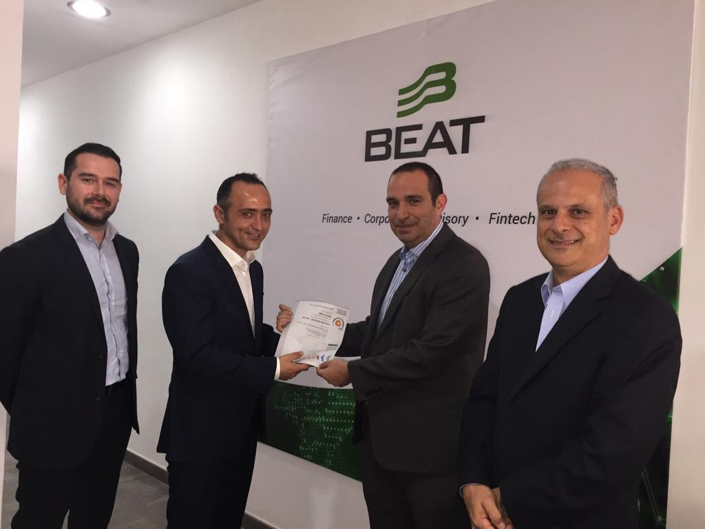 BEAT awarded ISO Quality Management System certification
